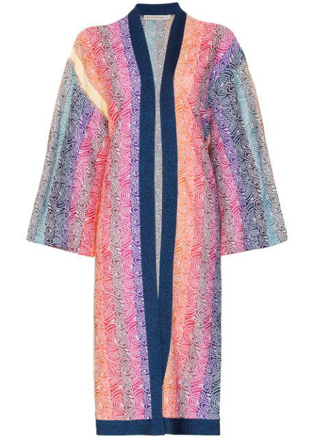 Mary Katrantzou 'sola' Cardigan Mit Regenbogenstreifen In Pink