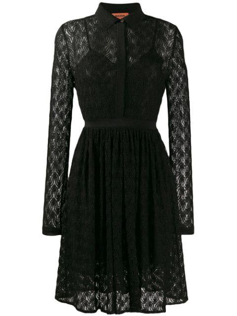 Missoni Fine Knit Shirt Dress In S903C