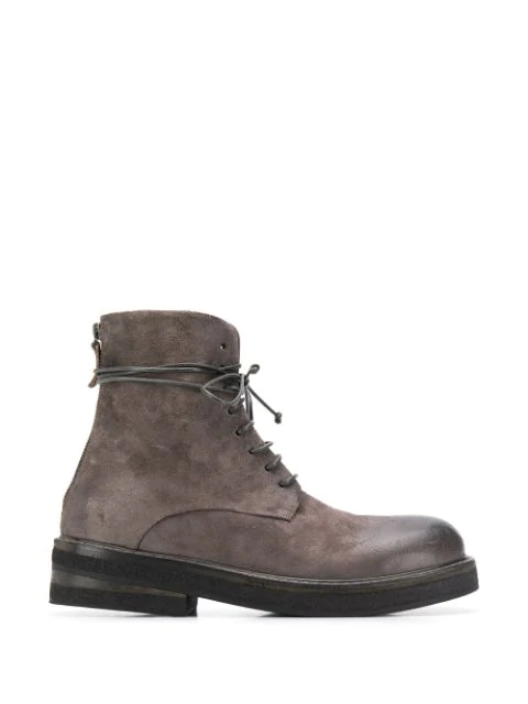 Marsèll Distressed Ankle Boots In Grey
