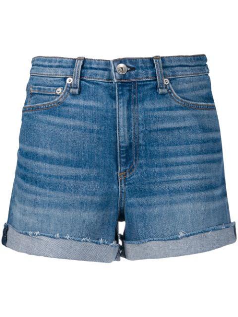 Rag & Bone Classic Denim Shorts In Blue