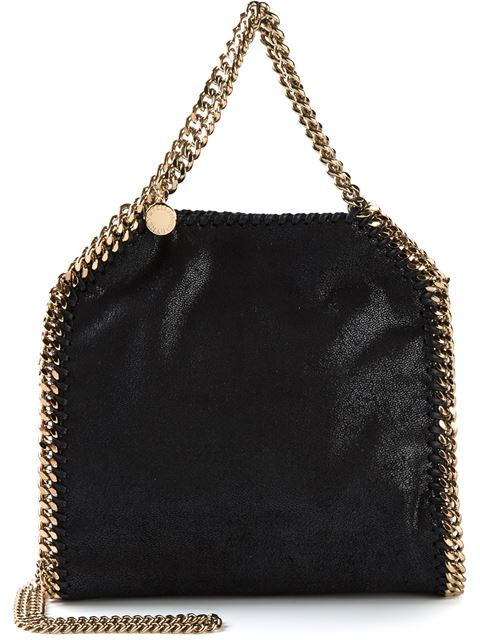 Stella Mccartney 'Small Falabella - Shaggy Deer' Faux Leather Tote - Black In 1000