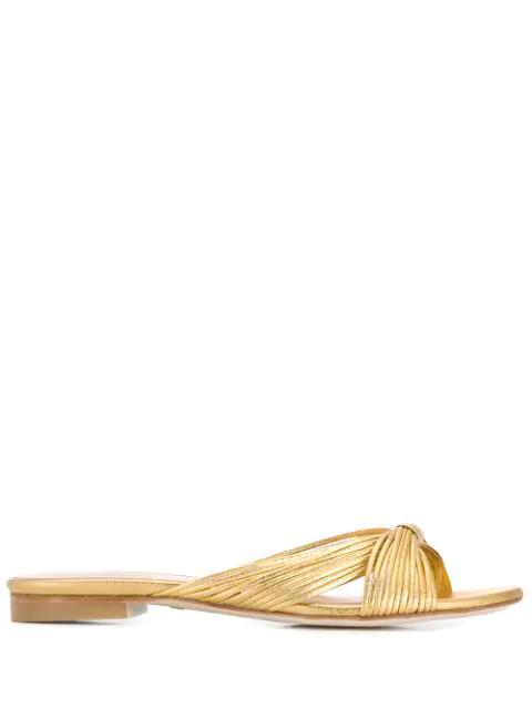 Stuart Weitzman Payton Sandals In Gold