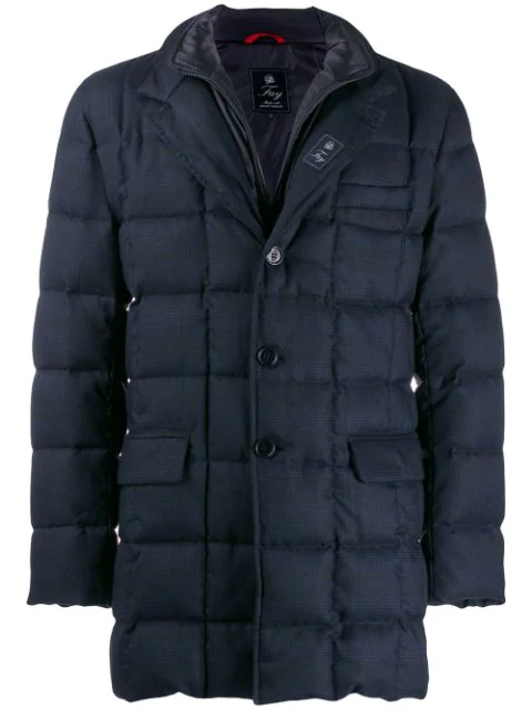 Fay Quilted Down Jacket In Rho0300 Blue
