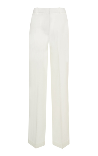 Bouguessa Minimal Straight Pants In White