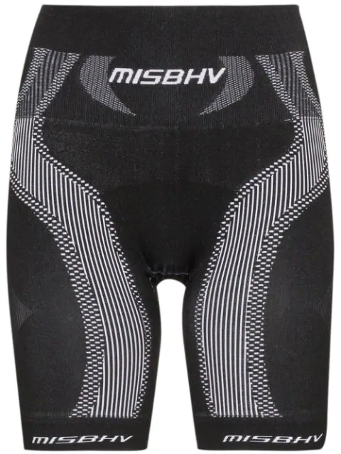 Misbhv High-waisted Sport Knit Shorts In Black