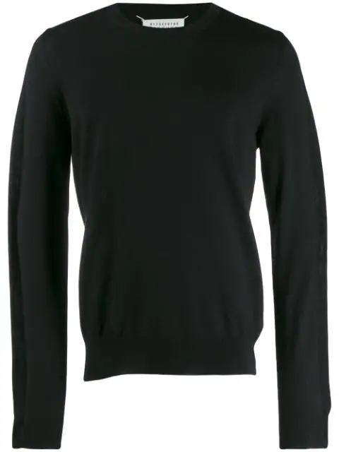 Maison Margiela Fine Knit Sweater In Black