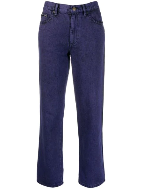 """Marc Jacobs """"The Turn Up"""" Overdye Jeans In 500 Purple"""