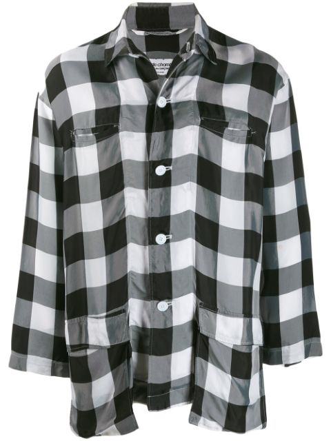 Pre-owned Comme Des Garçons Lightweight Checked Shirt In Black