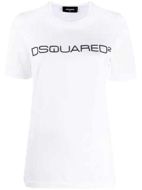 Dsquared2 Logo Cotton Jersey T-Shirt In White