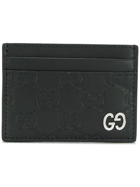 Gucci Dorian Leather Card Case - Black