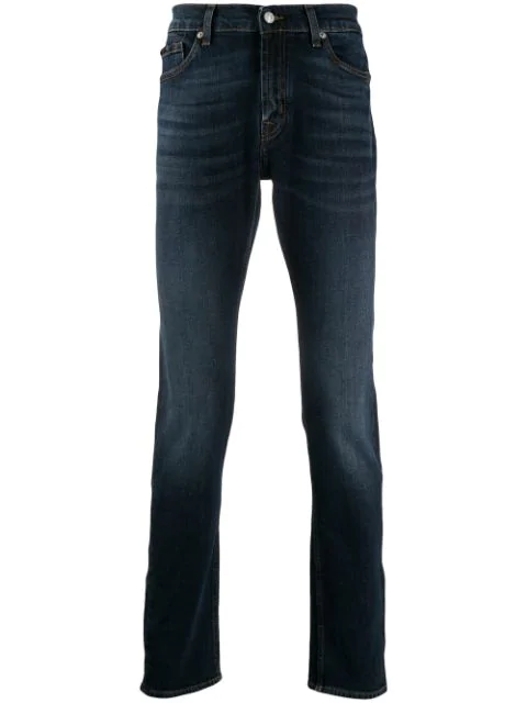 7 For All Mankind Slim Fit Denim Jeans In Blue