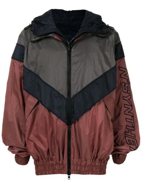 Juun.j Detachable Yoke Colourblock Track Jacket In Grey