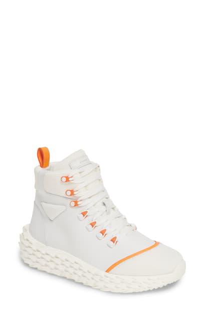 Giuseppe Zanotti High Top Platform Sneaker In White