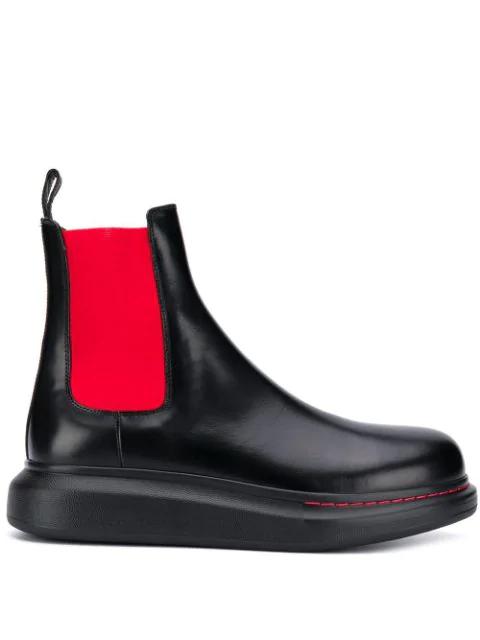 Alexander Mcqueen Platform Ankle Boots In Black