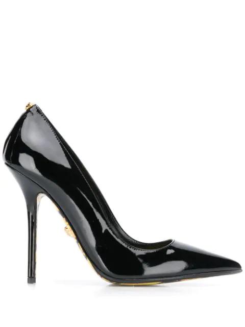 Versace 110 Décolleté Pointed Toe Pumps In Black