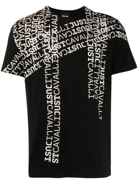 Just Cavalli Logo Print T-shirt In Black