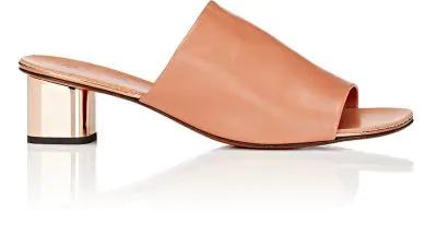 Robert Clergerie Lato Slide Sandals In Rose-Beige