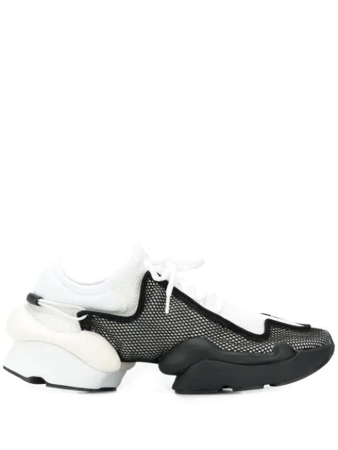 Y-3 Ren Mesh Sneakers In White