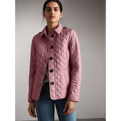 6d241f5c413 Burberry Ashurst Diamond-Quilted Jacket In Vintage Rose