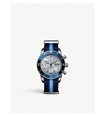 Breitling A1331/31a1/g1w1 Superocean Heritage Ocean Conservancy Limited Edition In Blue