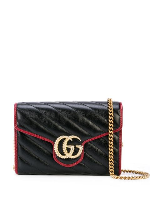 Gucci Gg Marmont Leather Shoulder Bag In 8277