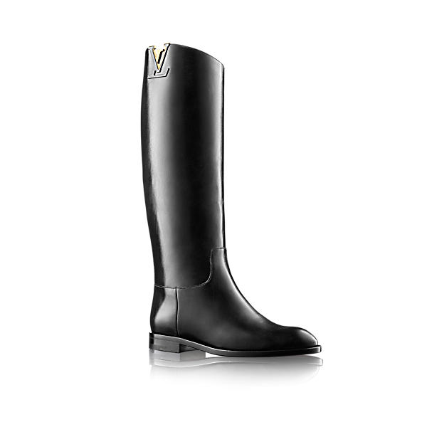 Louis Vuitton Heritage High Boot In Noir