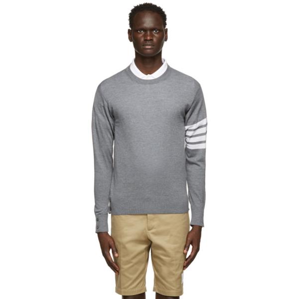 new style 41b68 bf0fb Merino Wool Crewneck Sweater, Light Gray in Medium Grey