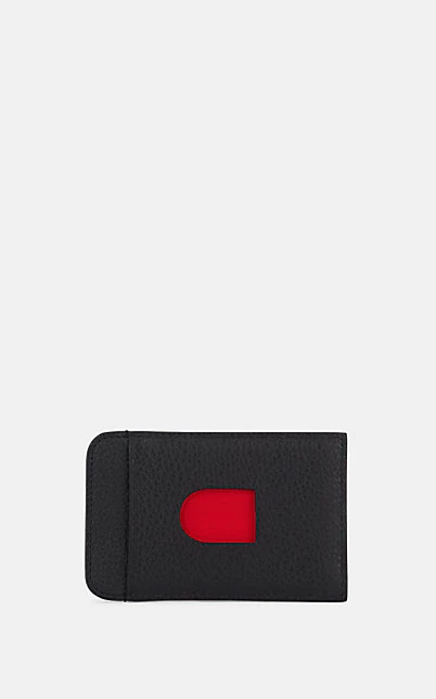 Christian Louboutin Loubislide Leather Card Case - Red In Black