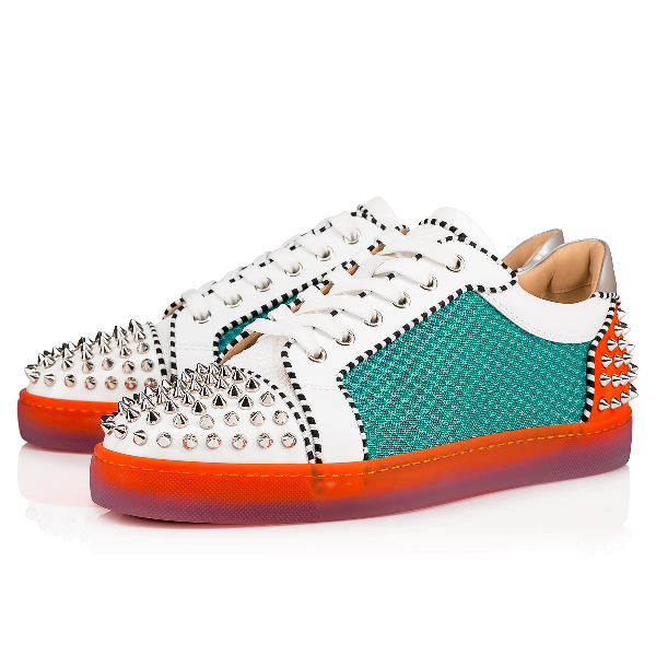 453d432f677 Men's Seavaste Spiked Leather Low-Top Sneakers in Version Multi