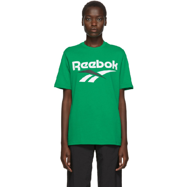 Reebok Classics Green And White Vector T-shirt In Emerald