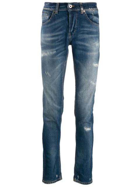 Dondup Distressed Denim Jeans In Blue