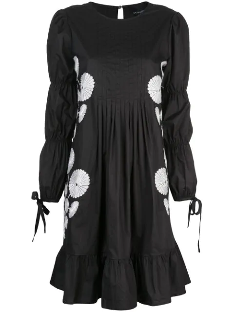 Cynthia Rowley Kyoto Dress In Blkwt - Black White