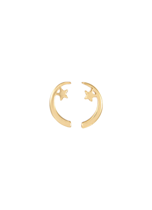 Edge Of Ember 'Twilight' 18K Gold Silver Stud Earrings