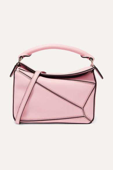 Loewe Puzzle Mini Leather Shoulder Bag - Pastel Pink