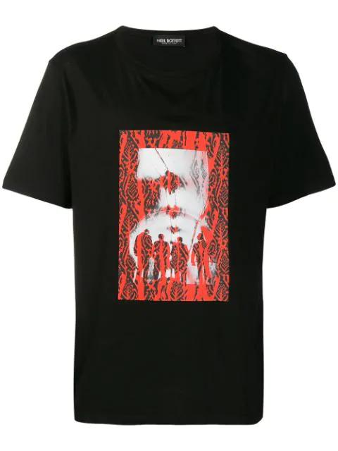 Neil Barrett Graphic Print T-shirt In Black