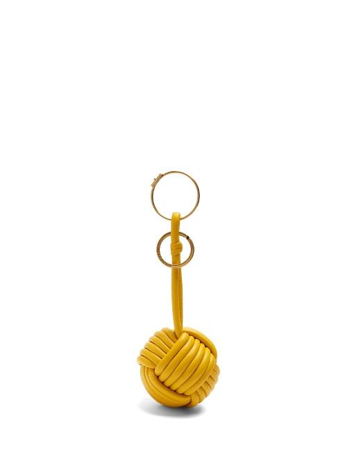 Balenciaga Danish knot Leather Key Ring
