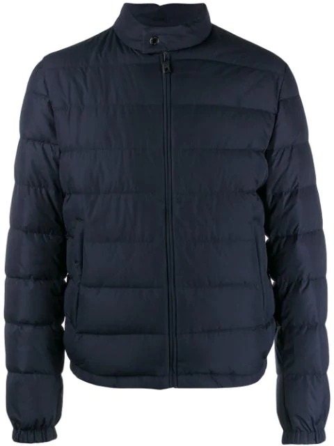 Dolce & Gabbana Quilted Down Jacket In B3681 Blu