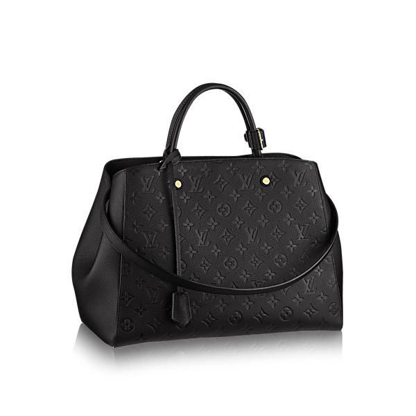 Louis Vuitton Montaigne Gm In Noir