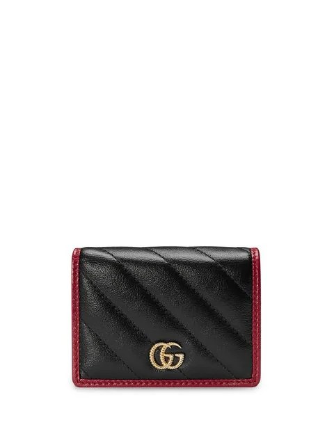 Gucci Gg Marmont MatelassÉ Leather Wallet In 8277 Nero