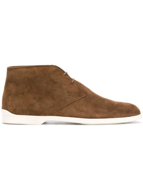 Tod's Men's Polacco Suede Chukka Boots In S818 Brown