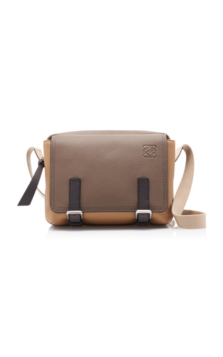 Loewe Military Messenger X-Small Leather Bag In Neutral