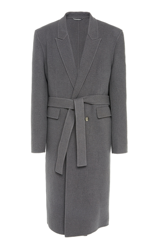 Rochas Pantelleria Wool And Cashmere-Blend Coat In Grey