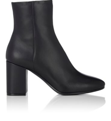 Balenciaga Chunky-Heel Leather Ankle Boots - Noir In Black