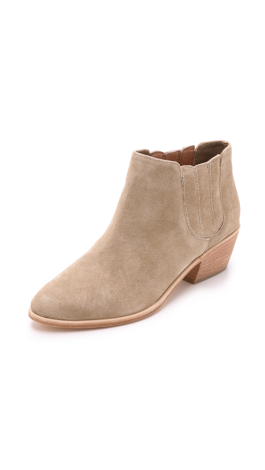 Joie Barlow Suede Pointed-Toe Bootie, Cement