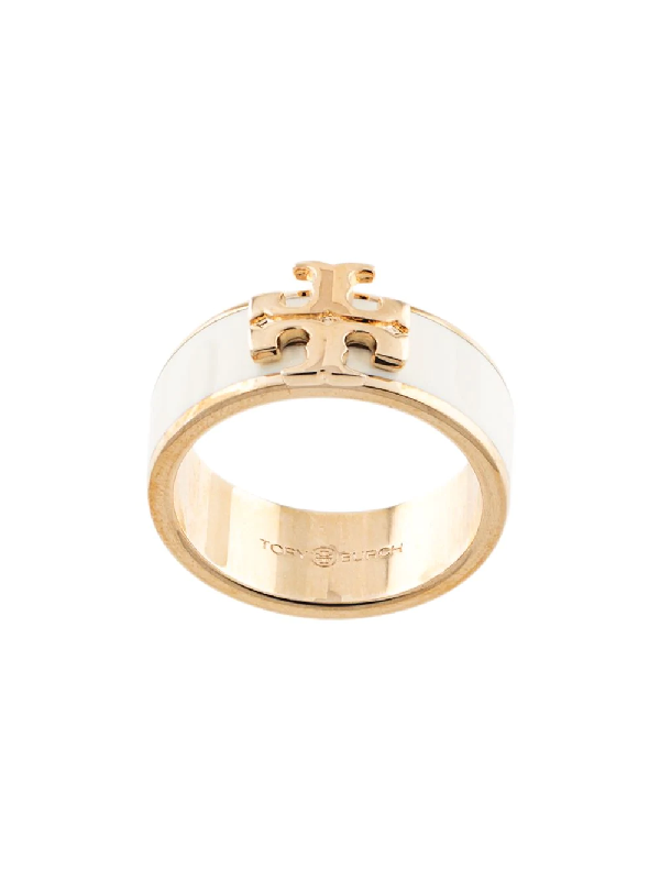 tory burch kira logo ring in white modesens kira logo ring in white