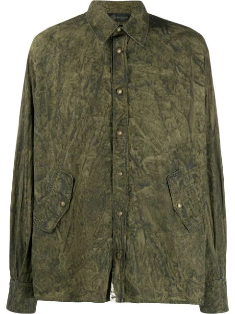 Mr & Mrs Italy Coated Shirt In Green