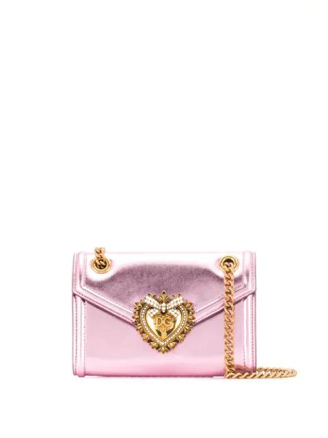 Dolce & Gabbana Small Devotion Shoulder Bag In 8H463 Rosa