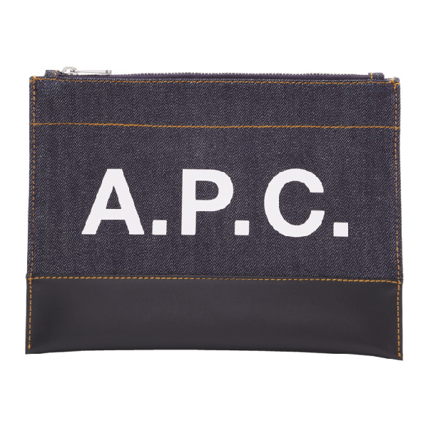 A.P.C. Navy And Black Axel Pouch In Iak Dk Navy