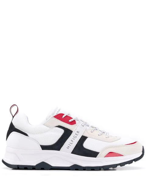 Tommy Hilfiger Colour Block Sneakers In White