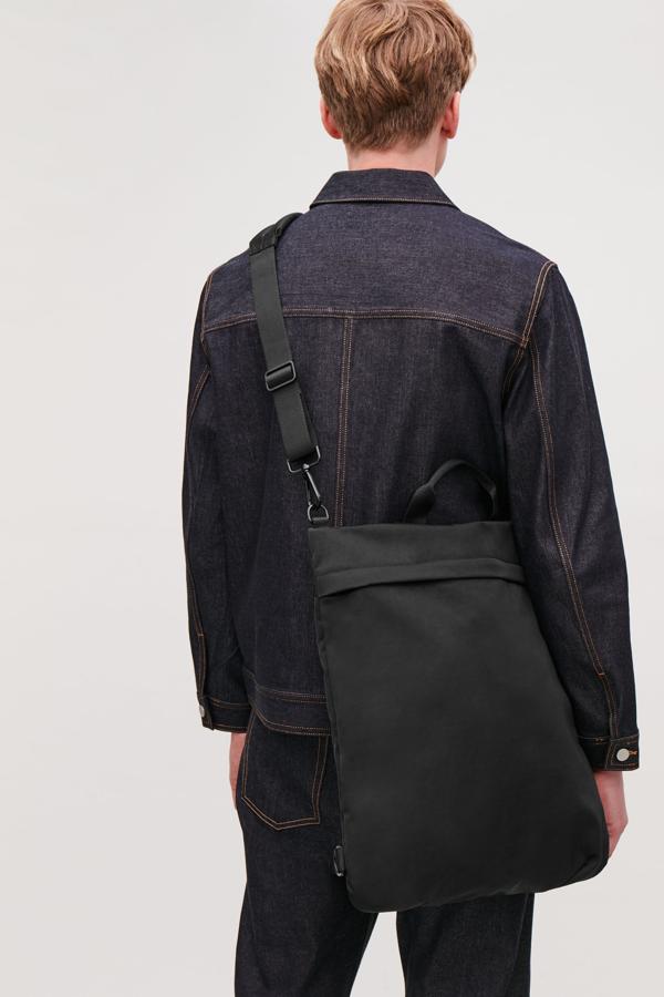 Cos Tote Backpack In Black